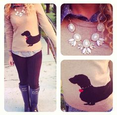 Dachshund Sweater...I must find this!