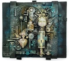 """The Oracle"" - Collage on the Edge of Steampunk and Industrial"