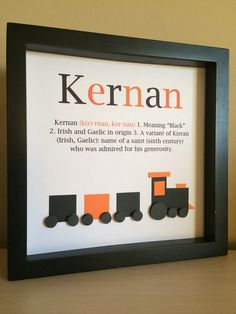 Name Meaning Art, 3D Paper Art, Train, Customize with your colors and theme