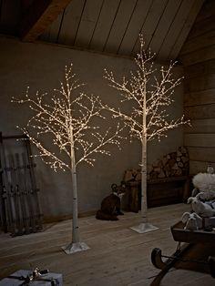Painted Pine Cones Cinnamon Sticks Garland LED 200cm Christmas decoration UK
