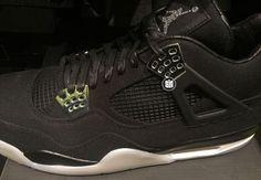EMINEM × NIKE AIR JORDAN IV BLACK/CHROME #sneaker