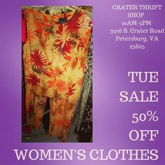 Are you ready for #fall colors? Lots of great options all 50% off today!     #buylocal #shoplocal #thriftstore #thriftshop #hopewellva #petersburgva #colonialheights #chesterfield #rva #804 #summer #shopping #womensclothes #charityshop #whybuynew #womensfashion #budgetfashion #budgetstyle