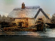 canaletto paints a thatch! Courtesy of Mash My Art, Wall Art, digital art, unusual gifts, home decor, interior design, photography,