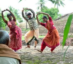 Learning dance at Ghantasala stupa