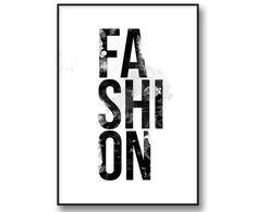 Fashion Watercolor painting-Poster med akvarell illustration. Fashion tavla och mode poster. Kombinera gärna med andra fashion posters med till ex. citat från Chanel och andra modeikoner eller med Prada tavla, Vogue covers, fashion quotes. Skapa en personlig tavelvägg med fashion känsla.
