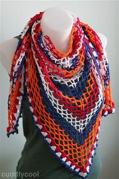 Koningsshawl: een echte Oranje-Boven shawl voor Koningsdag haken