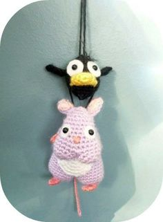 Crochet Amigurumi Spirited Away Bou Yu Bird Ornament Charm   Kawaii Crochet