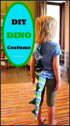 Do your kids love dress up play? This DIY homemade dinosaur costume for dress up play is SO EASY to make! Love it!