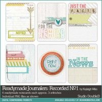 Readymade Journalers Recorded No. 01