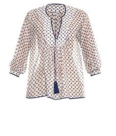 TALITHA Daisy-print cotton and silk-blend top