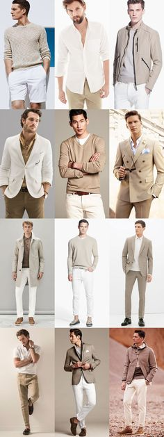 Sommer Style für Männer - am Schönsten in Khaki und Weiß *** Men's Khaki and White Combinations - Spring/Summer Outfit Inspiration Lookbook