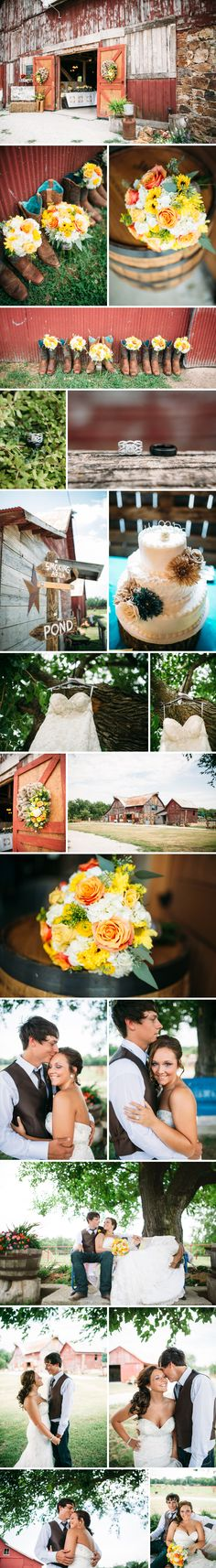 joe and bridgette were married on a beautiful summer day in Carthage, MO at Civil War Ranch...a venue full of colors, texture and history! their day was a beautiful mix of the old, the new and something blue...turquoise to be exact! :)