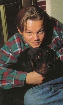 Leonardo DiCaprio teenager and his dog. Beautiful Person, Beautiful Boys, Pretty Boys, Cute Boys, Leonardo Dicapro, Young Leonardo Dicaprio, Celebs, Celebrities, Titanic