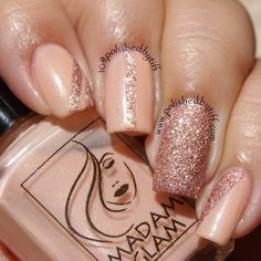 Thank you @polishedbytiff 'So nude' by Madam Glam A sheer pinky beige  This subtle classy shade gives a beautifully elegant look and will suit any occasion. So Nude is a must have.  Tips : You can even glam it up with a glitter gold polish on top!   Formula  Very sheer and thin 3 coats for full opacity Visit us on www.madamglam.com