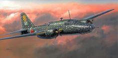 Mitsubishi Ki-67 Type 4 Heavy Bomber Hiryu 'Peggy' (Hasegawa box art)