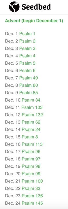 Advent is the beginning of the new year for Christians. Cultivate a daily habit of singing the psalms!