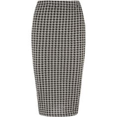 Grey dogstooth pencil skirt (2,380 INR) ❤ liked on Polyvore featuring skirts, bottoms, grey, print pencil skirt, patterned pencil skirt, grey skirt, cotton pencil skirt and mid calf pencil skirt