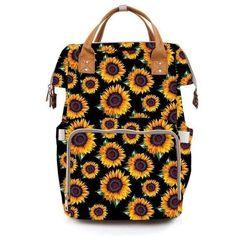 SALE_Sunflower Aztec Leopard Cow Print Camo Cactus Diaper Bag Backpack, Travel Boho Cheetah Serape c Large Diaper Bags, Baby Diaper Bags, Baby Bags, Diaper Bag Backpack, Cactus Backpack, Sunflower Baby Showers, Sunflower Nursery, Sunflower Room, Tumblr Outfits