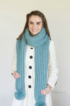 Himalayan Mist Chunky Ribbed Scarf - Giveaway   Crochet Pattern