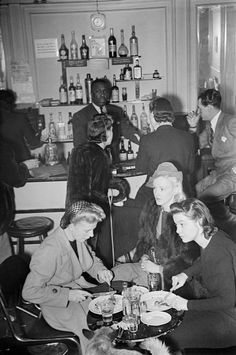 London, 1940. The Hungarian Restaurant in Soho.