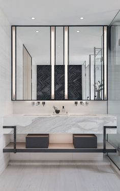 Bathroom decor for your master bathroom remodel. Discover master bathroom organization, bathroom decor tips, bathroom tile tips, bathroom paint colors, and more. Bathroom Layout, Bathroom Interior Design, Modern Bathroom, Small Bathroom, Bathroom Ideas, Bathroom Organization, Minimal Bathroom, Bath Ideas, Master Bathrooms