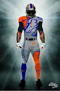 Boise State Football, Boise State University, Florida Gators Football, Football Gear, College Football Uniforms, Nfl Uniforms, Go Broncos, Denver Broncos, Go Big Blue