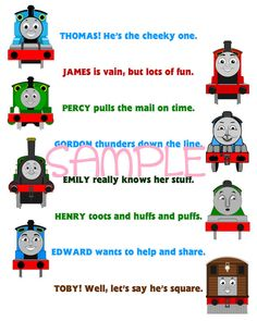 Thomas & Friends Printable Room Decor Sign by aeDesignsNY on Etsy, $2.99
