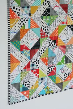 Janelle Wind is the creative driving force behind The Janelle Wind Collection - a bright, bold and funky Australian design house. Strip Quilts, Scrappy Quilts, Mini Quilts, Quilt Blocks, Patchwork Quilting, Quilt Kits, Bright Quilts, Colorful Quilts, Small Quilts