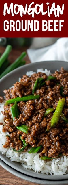 This super easy Mongolian Ground Beef Recipe is just like classic Mongolian… YUM! This super easy Mongolian Ground Beef Recipe is just like classic Mongolian Beef, except uses hamburger so it's ready in about 15 minutes! New Recipes, Cooking Recipes, Healthy Recipes, Drink Recipes, Healthy Nutrition, Healthy Hamburger Recipes, Healthy Eating, Hamburger Recipes For Dinner, Bread Recipes