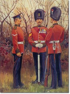 British Empire: Armed Forces: Units: British Infantry: The Northumberland Fusiliers, Sergeant, Lance Corporal, Private