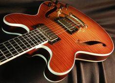 Benedetto GA-35 double-cutaway jazz guitar (Prototype II, Serial S2184) Photo by Stephanie Ward
