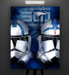 Star Wars Inspired Echo and Fives 11X14 Print Poster by Herofied