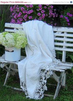 lace~shabby white bench=♥