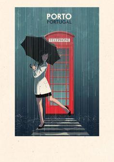 'Porto, telephone booth - Portugal' by Rui Ricardo