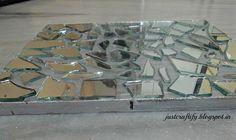 Broken Mirror Art, For detailed procedure, please visit http://justcraftify.blogspot.in/2016/05/broken-mirror-art.html
