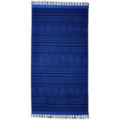 Vera Bradley Tassel Beach Towel (Aztec Cobalt) Bath Towels ($53) ❤ liked on Polyvore featuring home, bed & bath, bath, beach towels, aztec beach towel, cotton beach towels, vera bradley beach towel and vera bradley