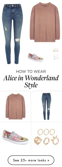 """""""Untitled #452"""" by jenniferosayande on Polyvore featuring River Island, adidas Originals, Vans and Topshop"""