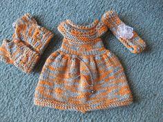 "14"" Knit Dress from a Ravelry Pattern~"