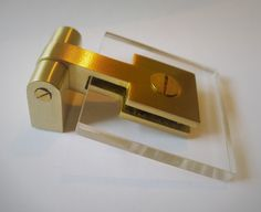 Brass + Lucite Pull - replace knob on jenny Lind bedside table