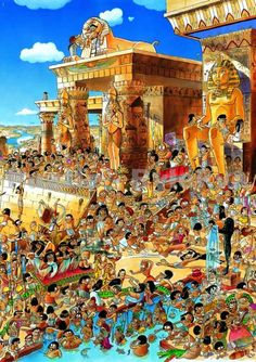 Prades, Egypt is a 1000 piece jigsaw puzzle by Heye Puzzles featuring a cartoon image of Egypt by Hugo Prades. Cartoon Sketches, Cartoon Art Styles, Funny Puzzles, Jigsaw Puzzles, Cartoon Puzzle, 8bit Art, Picture Story, Picture Books, Hidden Pictures