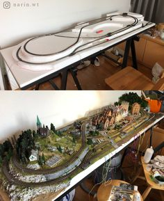 N Scale Train Layout, Ho Train Layouts, N Scale Model Trains, Scale Models, Train Ho, Model Railway Track Plans, Train Table, Ho Trains, Planer