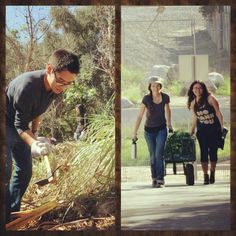 Volunteering in santiago park nature reserve.