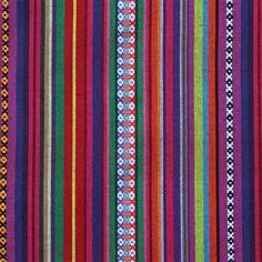 Mexicaanse stof Frescura, kleurrijke Mexicaanse stof van Stoffen Online. - Stoffen Online