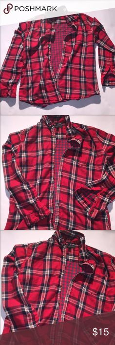 Men's Flannel Medium flannel shirt only worn once if you have any questions please feel free to contact me thank you for visiting my page Aeropostale Shirts Casual Button Down Shirts