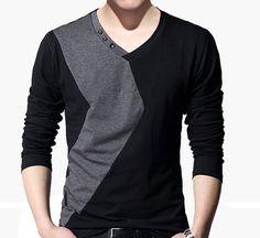 Cheap t-shirt dress, Buy Quality t-shirt wifi directly from China t-shirt surf Suppliers: 2015 Fashion Stylish Men's Casual Shirts Slim Fit Long Sleeve T-Shirt V-Neck top tees menUSD 29.98/pieceFashion Men's V