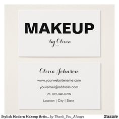 Free co founder business card template businesscard design stylish modern makeup artist business cards colourmoves