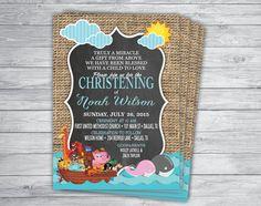 BAPTISM DEDICATION CHRISTENING Noah's Ark Invitation by PrintPros