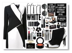 """Life In Black And White"" by angelstylee ❤ liked on Polyvore featuring Thierry Mugler, Alexander McQueen, Kat Maconie, Casetify, Givenchy, Dolce&Gabbana, Marc Jacobs, Smashbox, MAC Cosmetics and Tony Moly"