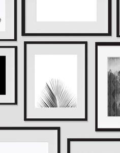 Palm Tree Wall Art, Tropical Monochromatic Art, Minimalist Prints, For The Home