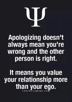 Apologizing....